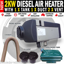 NEW Planer 2KW 12V Diesel Heater With 2 x Vents Duct & Tank Caravan Motor Home