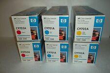 LOT of 6 HP Toner Cartridges for 1500 2500 121A C9701A C9702A C9703A NEW SEALED