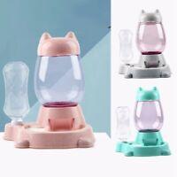 1X(Pet Automatic Feeder Cat Dog Food Dispenser Water Drinking Bowl Feeding P5T7