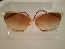 CHRISTIAN DIOR 2499 43 EYEGLASSES FRAME 69-08-120 Gold Red Vintage 1980s