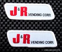 "J R VENDING CORP EMBROIDERED SEW ON PATCH ADVERTISING UNIFORM Lot 2~3 1/4"" x 1"""