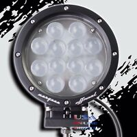 "7/"" OFF-ROAD ROUND BRIGHT CREE LED DRIVING FLOOD LIGHT LUMENS TRUCK JEEP UTV RZR"