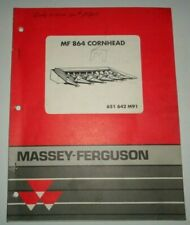 Massey Ferguson Mf 864 Corn Head Parts Catalog Manual Book Original 891