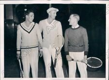 1937 Indoor Tennis Arthur Hendrix Walter Senior Charles Bassett Press Photo