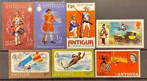 ANTIGUA - DIFFERENT TOPICS - LOT OF 7 MH STAMPS