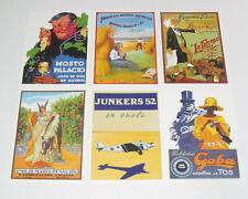 Lot de 6 Carte Postale Reproduction Affiche Publicitaire Ancienne Pub e