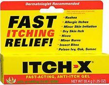 ITCH-X Anti-Itch Gel 1.25 oz PHARMACY FRESH!