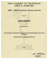 Emmy Nomination for ''The Simpsons Christmas Special''