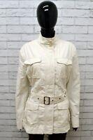 Giubbino BENETTON Donna Taglia XL Giubbotto Giacca Jacket Bianco Cotone Woman