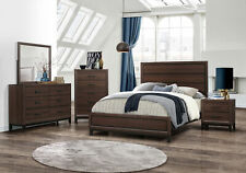 Kings Brand Furniture – Athens 6-Piece Queen Size Bedroom Set, Brown / Black