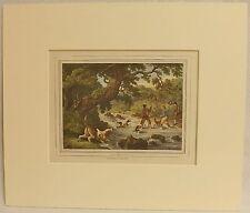 Otter Hunting, Copper Plate Engraving, Howitt 1834