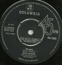 KEN DODD, GEOFF LOVE ORCHESTRA - TEARS / YOU AND I - 1965 COLUMBIA 60s POP VOCAL