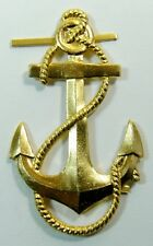 Naval Anchor Vintage USSR Soviet Russian Navy Uniform Badge Large 6 x 3.5cm
