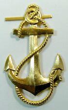 Naval Anchor Vintage USSR Soviet Russian Navy Uniform Badge Large 6 x 3.5cm