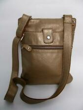 ROOTS CANADA PURSE METAL GOLD LEATHER VENETIAN TRIBE CROSS BODY MESSENGER BAG