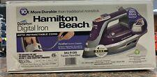Hamilton Beach Steam Iron Retractable Cord Vertical Steam SKU R1209 Q21