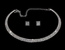 Parure Ras de Cou 2 Rangs Parure Strass  bijoux Mariage & Soirée