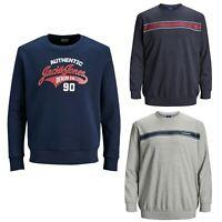 Jack and Jones Sweatshirt Mens Big King Size Jumper Sweater Casual Pullover Tops
