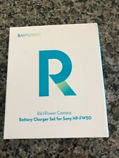RAVPower NP-FW50 Camera Battery 1100mAh + Charger Set - Black
