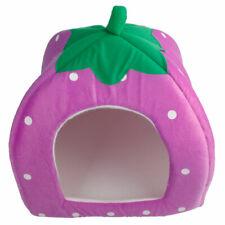 New listing Soft Cotton Cute Strawberry Style Multi-purpose Pets Dog Cat House Nest Yurt