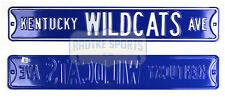 Kentucky Wildcats Avenue Officially Licensed Steel 36x6 Blue & White Street Sign