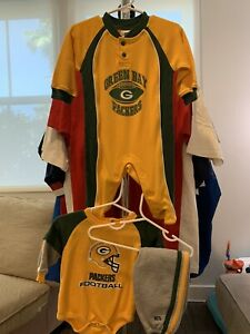 Baby NFL Team Apparel Green Bay Packers Lot Size 3-6 months Pants Pajamas Top