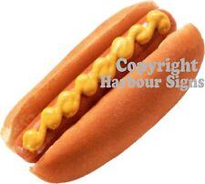 "Hot Dog Decal Concession Food Truck Cart Restaurant Vinyl Sticker Sign 12"""
