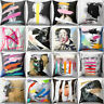 Abstract Historical Figures Pillow Case Cover Sofa Car Throw Waist Cushion Cover