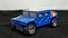 HOT WHEELS HUMMER BLUE WITH HOT WHEELS LOGO in Good Condition