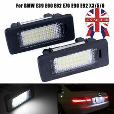 2x BMW 3 5 Series Canbus LED License Number Plate Light Lamp E39 E60 E61 E90 E92