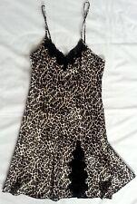 NWOT Leopard Print Satin Nightie Ladies size X-Small