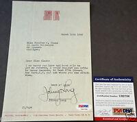 JOHNNY LONG Vintage Signed Decca Records Letter 1946 PSA/DNA Certified Autograph