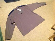 New Mens XL Harrisburg Area Community College Pullover Sweat Shirt, gray & Navy