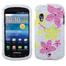 Samsung Stratosphere i405 Crystal BLING Hard Case Phone Cover Hibiscus Flowers