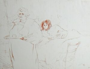 """Toulouse-Lautrec lithograph """"Le dejeuner du matin"""""""