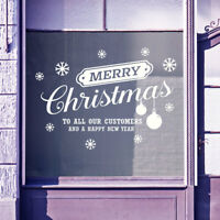 Merry Christmas to Customers New Year Windows Stickers Decal Xmas Decoration B37