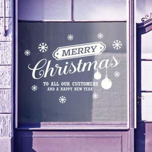 Joyeux Noël Pour Clients Neuf An Windows Stickers Autocollants Décoration B37