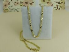 9ct 9carat Yellow Gold Solid Fancy Twist Curb Link Chain, 18''  4.5grams