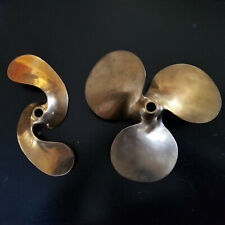 Pair of beautiful Brass/Bronze 3 Blade and 2 Blade Propellers Michigan