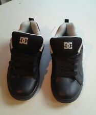 DC COURT Graffik Black/Grey Graffiti Leather Skateboard Sneakers YOUTH SIZE 5