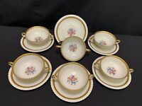 "Krautheim ""La MARQUISE"" ~ Selb Bavaria ~ Set of 6 ~ Cream Soup Bowls w/Saucers"