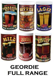 Geordie Beer Lager Making Kits Make Home Brew Refill Ingredients Kit Brewing NEW
