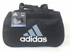 NWT Adidas Black/Gray Diablo Small Duffel Bag Sport Gym Travel Carry On Expandab