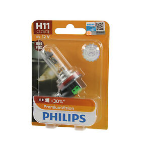 Genuine PHILIPS Premium Vision Headlight H11 Globe 12V 55W - Single Bulb