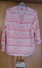 L@@K DASH SIZE 18 PINK CANDY COTTON STRIPED TUNIC SHIRT SUMMER HOLS TOP