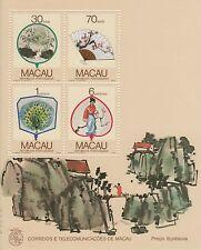 MACAO-CHINA -1987-REGIONAL FANS- Souvenir Sheet- RARE!!!