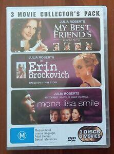 My Best Friend's Wedding  / Erin Brockovich  / Mona Lisa Smile (DVD, 3-Disc Set)