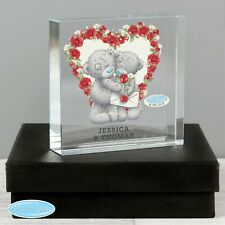 Personalised Me to You Valentine Large Crystal Token or Paperweight Ornament