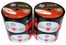 200 HP Blank 16X DVD-R DVDR Logo Branded 4.7GB Media Disc 4x50pk