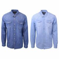 Scotch & Soda Men's AMS Blauw Classic Slim Fit Western L/S Shirt (Retail $115)